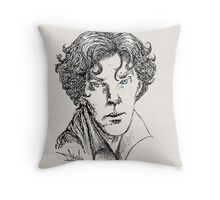 Portrait of a Consulting Detective Throw Pillow