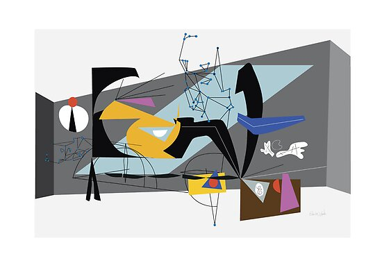 mid century inspired 1940s abstract no. 2 by edwinwade