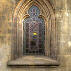 very old church windows with stained glass by Nicole W.