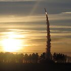 Sunset Rocket Launch by Peter Barrett