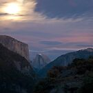 Half Dome & El Capitan in the moonlight by Spiiral