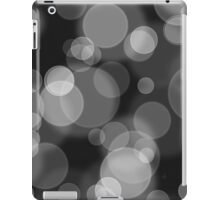 Black and White Bubbles iPad Case/Skin