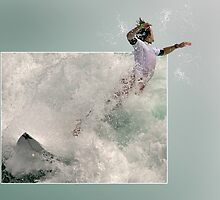 Surfer Leap by CarolM