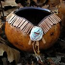 Leather Toothed Gourd Bowl by Carla Wick/Jandelle Petters