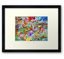 Cyclonic landscape Framed Print