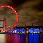 London Eye by Night by Fern Blacker