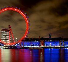 London Eye by Night by fernblacker