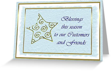 Christmas card for customers from business - star by Cheryl Hall