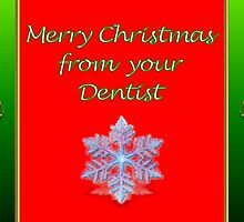 Christmas card from dentist with snowflake by Cheryl Hall