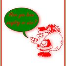 Naughty or nice Christmas Santa Claus Father Christmas Kris Kringle  by Cheryl Hall