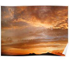 ©HCS Red June Sunset I Poster