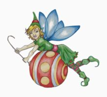 Red Ornament Christmas Faerie - Small by ChePanArt