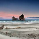 Archway islands wharariki beach by damienlee