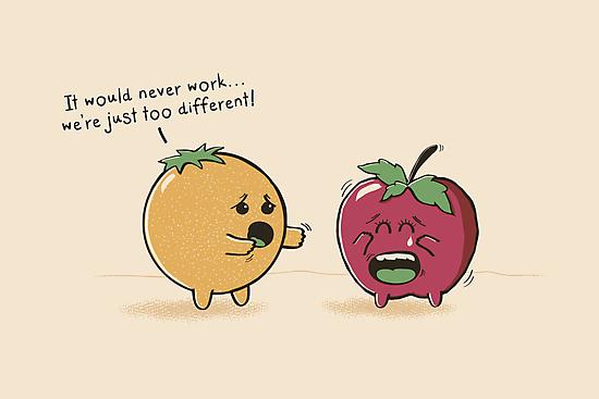 Apples & Oranges by thehookshot