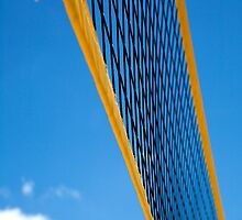 Beach Volleyball net abstract by enphoto
