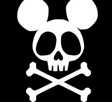 Mickey Albator Skull by Kasaey Bird's