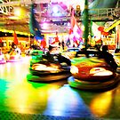 Bumper Cars at Night by A. Duncan
