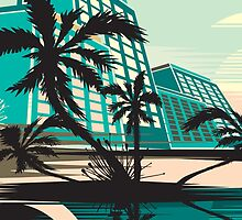 MIAMI IN TEAL by monkeydesigns4u
