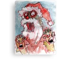 zombie santa Canvas Print