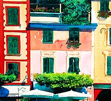 Portofino Cafe by Donna Jill Witty