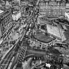 Edinburgh from Above Monotone by Chris Cherry