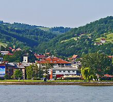 Donji Milanovac, Romania (panorama) by Margaret  Hyde