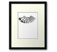 Rock Climbing Necklace Framed Print