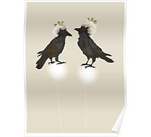 Perching Ravens Poster