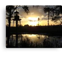 Econfina Creek Sunset, December 1, 2012 Canvas Print