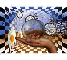 Salvador Dali dreams of fried eggs. Photographic Print