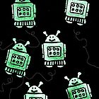 Buzzy Robots in Space by KeLu