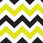 Zig Zag iPad - Chartreuse & Black by angeflange