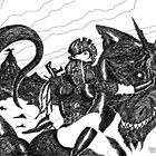 Digital Dragon Rider by Grant Wilson