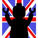 Minifig Union Jack by Customize My Minifig by ChilleeW