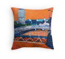 Liffey Bridges, Dublin Throw Pillow