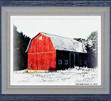 Red Barn in Winter by Deb  Badt-Covell