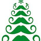 Mustache Christmas tree design by beakraus