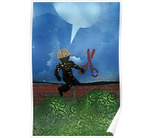 Boy with Scissors Poster