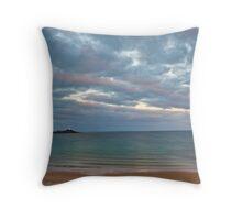 Low Head Light from East Beach sand dune Throw Pillow