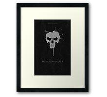 Metal Gear Solid Snake Eater Poster Framed Print