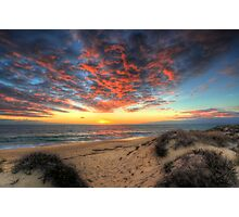 Beachcombers Sunset Photographic Print