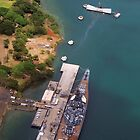 USS Arizona and USS Missouri by Alex Preiss