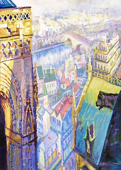 Paris Shadow Notre Dame de Paris by Yuriy Shevchuk