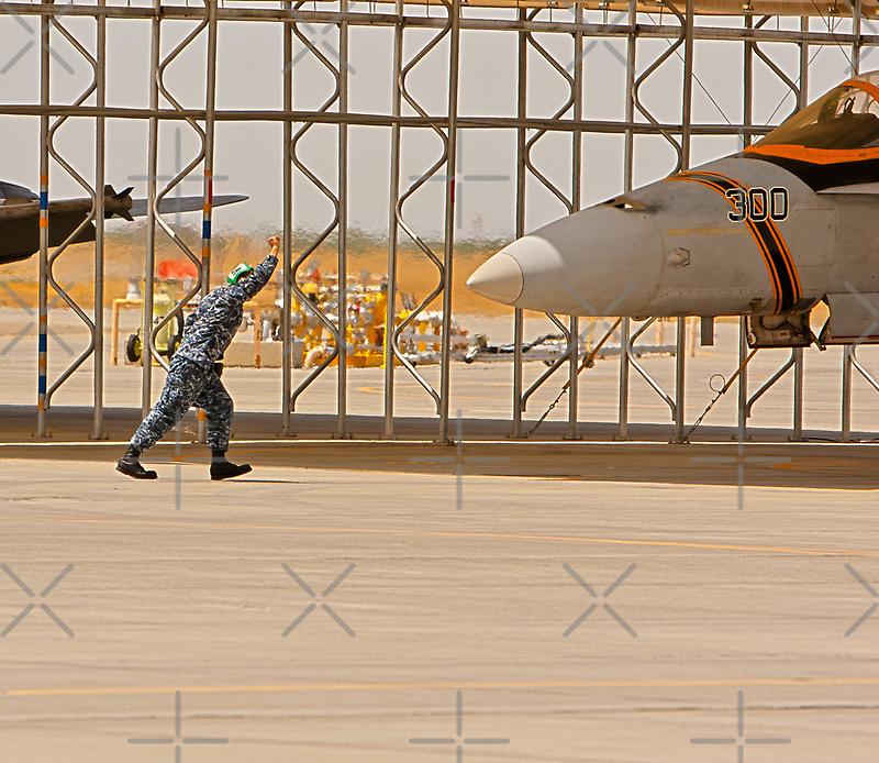 Parking an F/A 18 Jet by Buckwhite