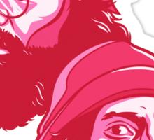 Cheech and Chong pink Sticker