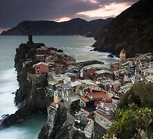 Evening over Vernazza by Brendon Doran