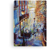 Paris Monmartr Steps Canvas Print