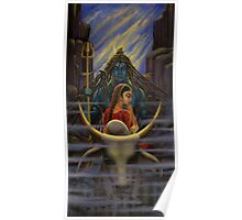 Shiva Parvati. Night in Himalayas Poster