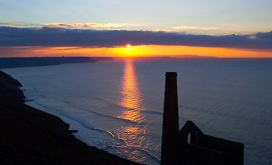 Sunset Wheal Coates, Cornwall by Wonkstar