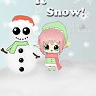 "Eve ""The Elf"" Let it Snow by LARiozzi"